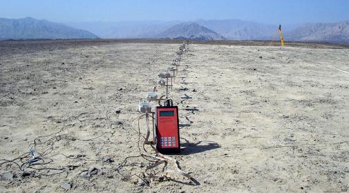 Geoelektrische Profilaufnahme